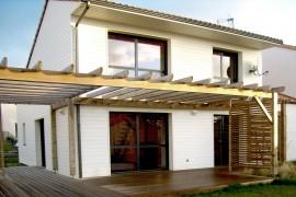 Maison ossature bois BBC à Tharon-Plage (44)
